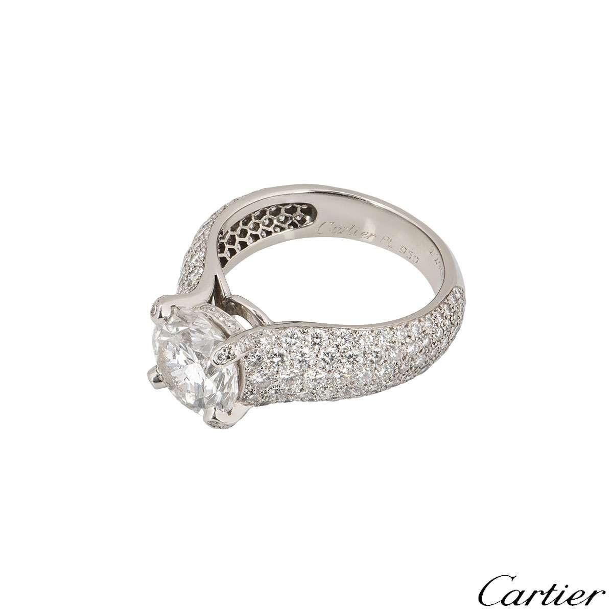 Cartier Platinum Diamond Luna Ring 2.24ct F/VVS1